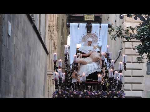 Procesión de Nuestra Señora de las Angustias por calle Obispo de Barcelona (Viernes Santo 2017)