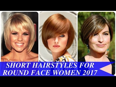 Short hairstyles for round face women