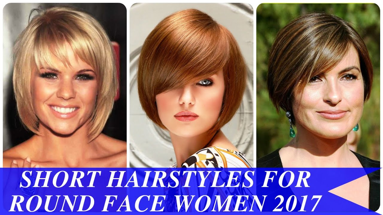 short hairstyles for round face women 2017 - youtube
