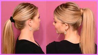 видео Красивые хвосты на длинные волосы: варианты стильной прически