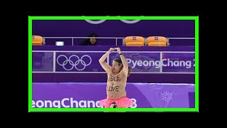 A Peace-Promoting Streaker Shook Up The Men's Speed Skating Olympic Event- Newsnow Channel