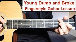 Baixar Young Dumb and Broke (Khalid) | Fingerstyle Guitar Lesson (Tutorial) How to play Fingerstyle