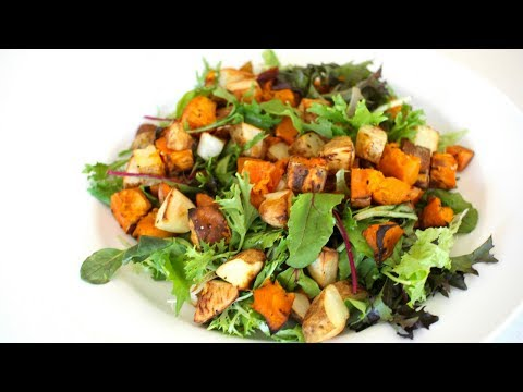 Roast Pumpkin Potato Sweet Potato Salad