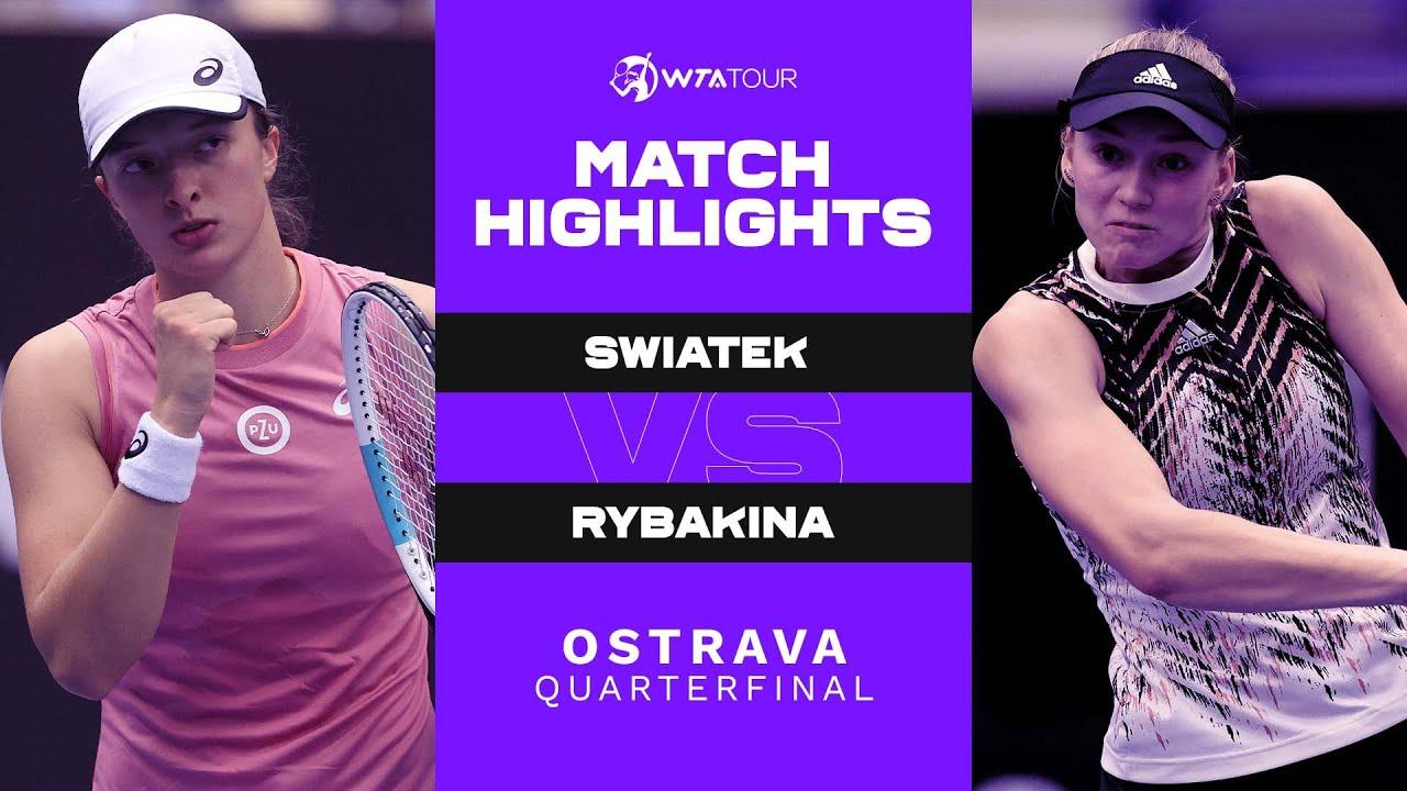 Download Iga Swiatek vs. Elena Rybakina   2021 Ostrava Quarterfinal   WTA Match Highlights