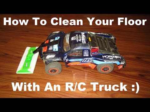How To Clean Floors with an R/C Truck - Lazy Husband's Guide To House Cleaning