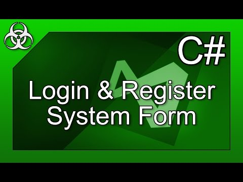 Login/Register Form with Filesystem & Directories in C# Visual Studio Tutorial