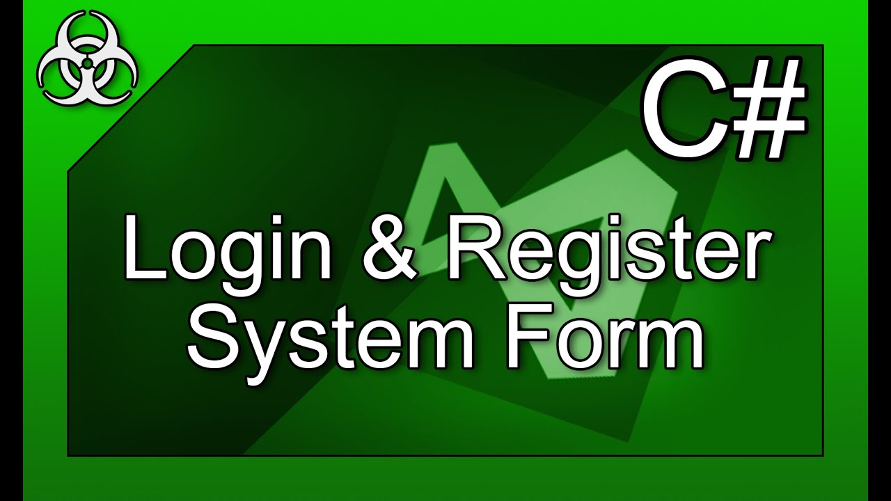 Login/Register Form with Filesystem & Directories in C# Visual Studio  Tutorial