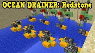 Minecraft Insanity Redstone - OCEAN DRAINING MACHINE