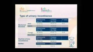 Adolescent Incontinence (Kids Bladder Day 2015) - for medical professionals