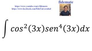 Ejemplo 2. Integración Funciones Trigonométricas- fidemate
