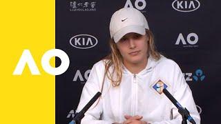 Eugenie Bouchard press conference (2R) | Australian Open 2019