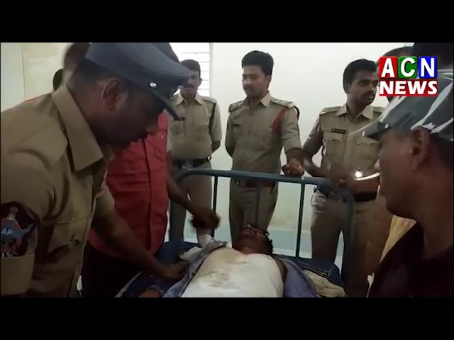 Accident  near vampalli police constable   ACN News Badvel