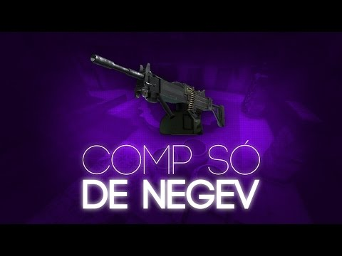 JOGANDO COMP SÓ USANDO NEGEV (A ARMA MAIS DIVERTIDA DO JOGO) - CS:GO