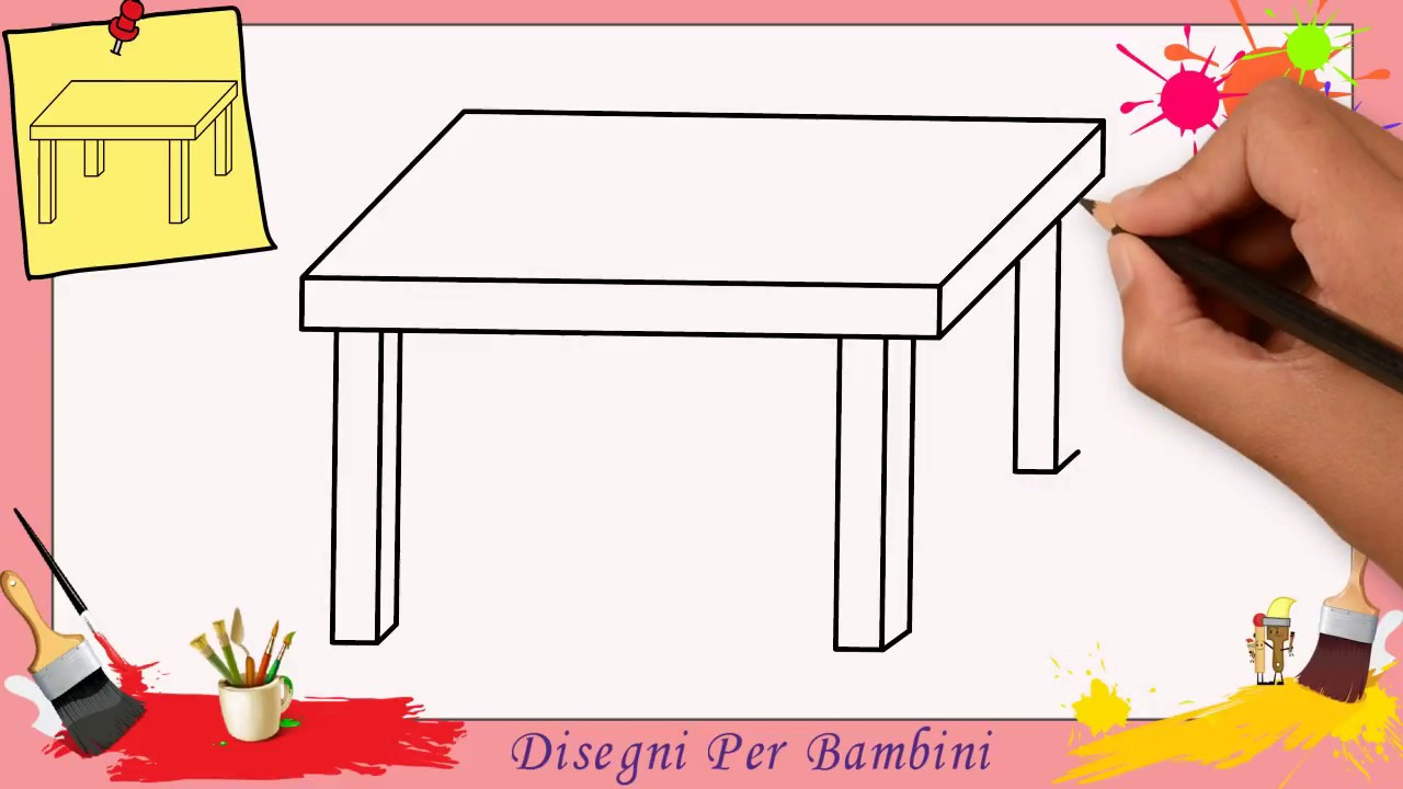 Disegnare Una Scrivania.Disegni Di Tavoli Facili Per Bambini Come Disegnare Un Tavolo 1