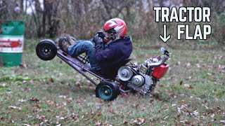 Diesel Kart is a Wheelie Machine! | Performance Mods, Tractor Flap, Doughnuts, Wheelies!