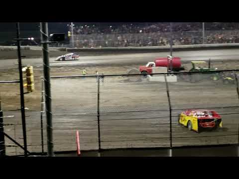 Winner Stan Beadles 2nd Brandon McDowell 3rd Dustin Beck. - dirt track racing video image