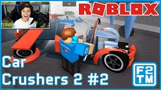 I TAKE A METAL BAR TO EXPENSIVE CARS LOL :D - Roblox Car Crushers 2 #2