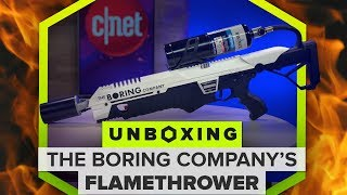 Unboxing the Boring Company's flamethrower