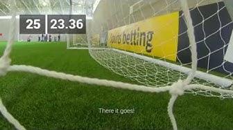 Man Utd's David de Gea in bwin's Corner Kick Challenge