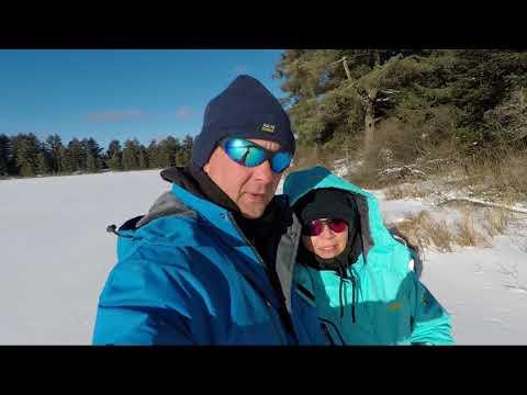 Algonquin Park RV Winter Camping - Mew Lake