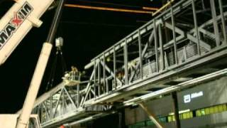 Time Lapse - Assembling A Footbridge