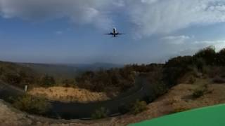 360° Jet aircraft flying overhead - ANA B737