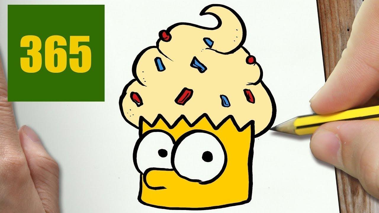 Come disegnare cupcake bart kawaii passo dopo passo disegni kawaii facile youtube - Comment dessiner bart simpson ...