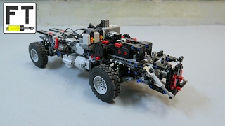LEGO Technic 4 x 4 chassis (MOC) - new suspension and custom tires