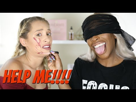 BLINDFOLDED MAKEUP CHALLENGE WITH JACKIE AINA