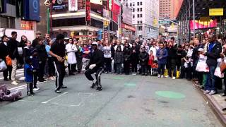 Street Dancing in Times Square New, York