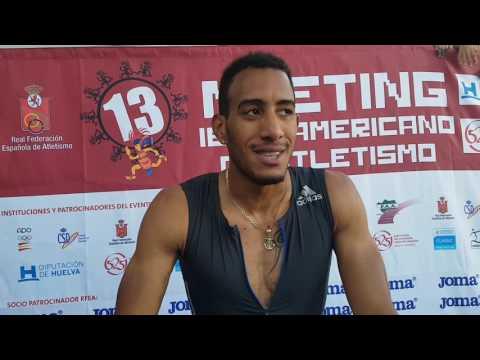 Orlando Ortega vencedor en 110m vallas en Huelva