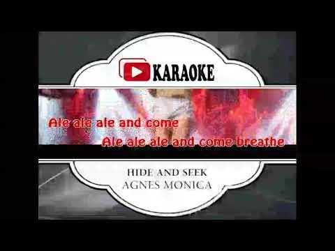 Lagu Karaoke AGNES MONICA - HIDE AND SEEK (POP INDONESIA)   Official Karaoke Musik Video