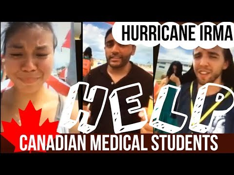 Canadian Medical Students Stranded on St. Martin after Hurricane Irma LIVE