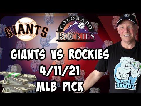 San Francisco Giants vs Colorado Rockies 4/11/21 MLB Pick and Prediction MLB Tips Betting Pick