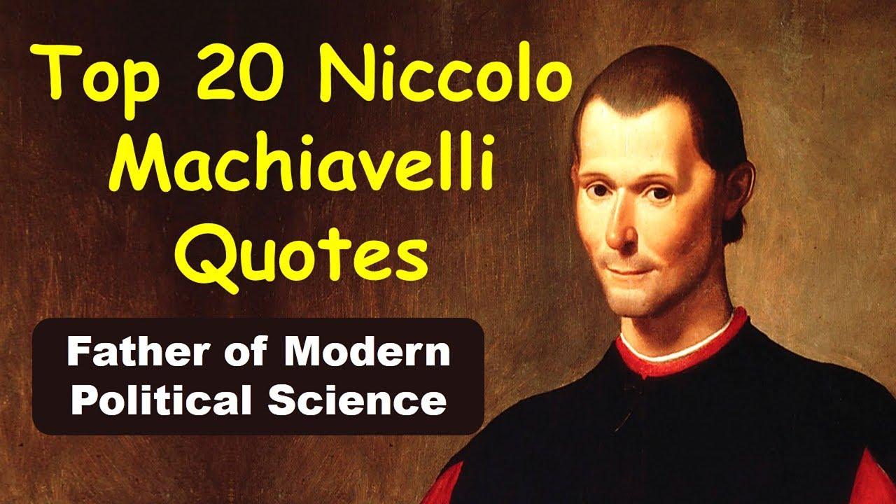 machiavelli political science