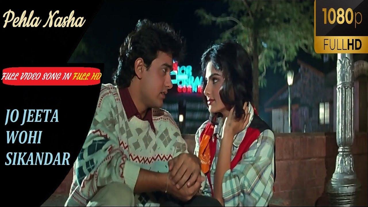 Download Pehla Nasha | Full video in 1080p FULL HD(Jo Jeeta wohi Sikandar) | Aamir Khan, Ayesha Jhulka