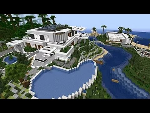 Minecraft Maison moderne de plage par Makapuchii - YouTube