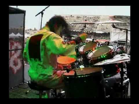 Joey Jordison Drumming (Backstage camera)