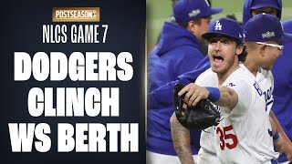 Final Out of NLCS Game 7! (Dodgers clinch World Series berth!)