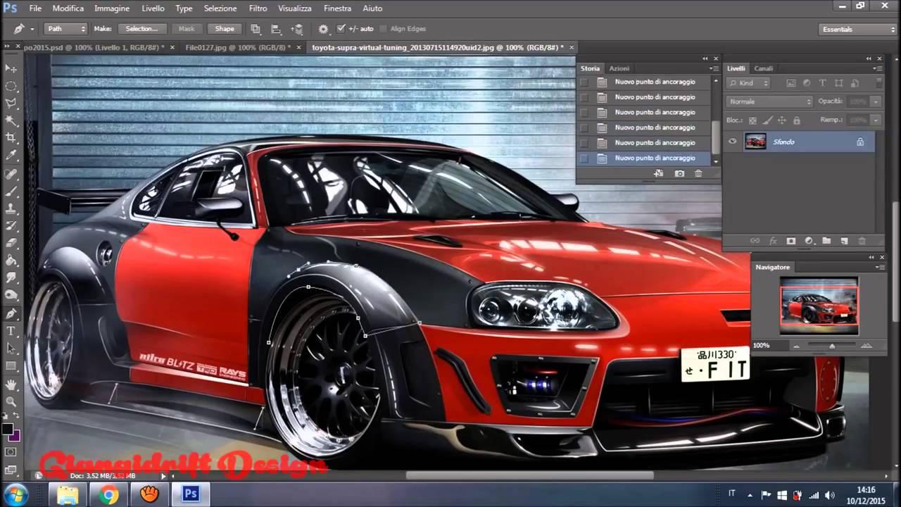Fiat Tipo 2015 Virtual Tuning Photoshop Youtube