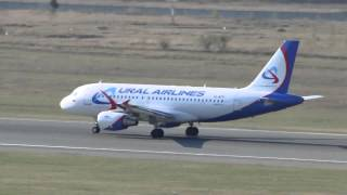 airbus a319 111 vq btp ural airlines takeoff rwy25 unnt