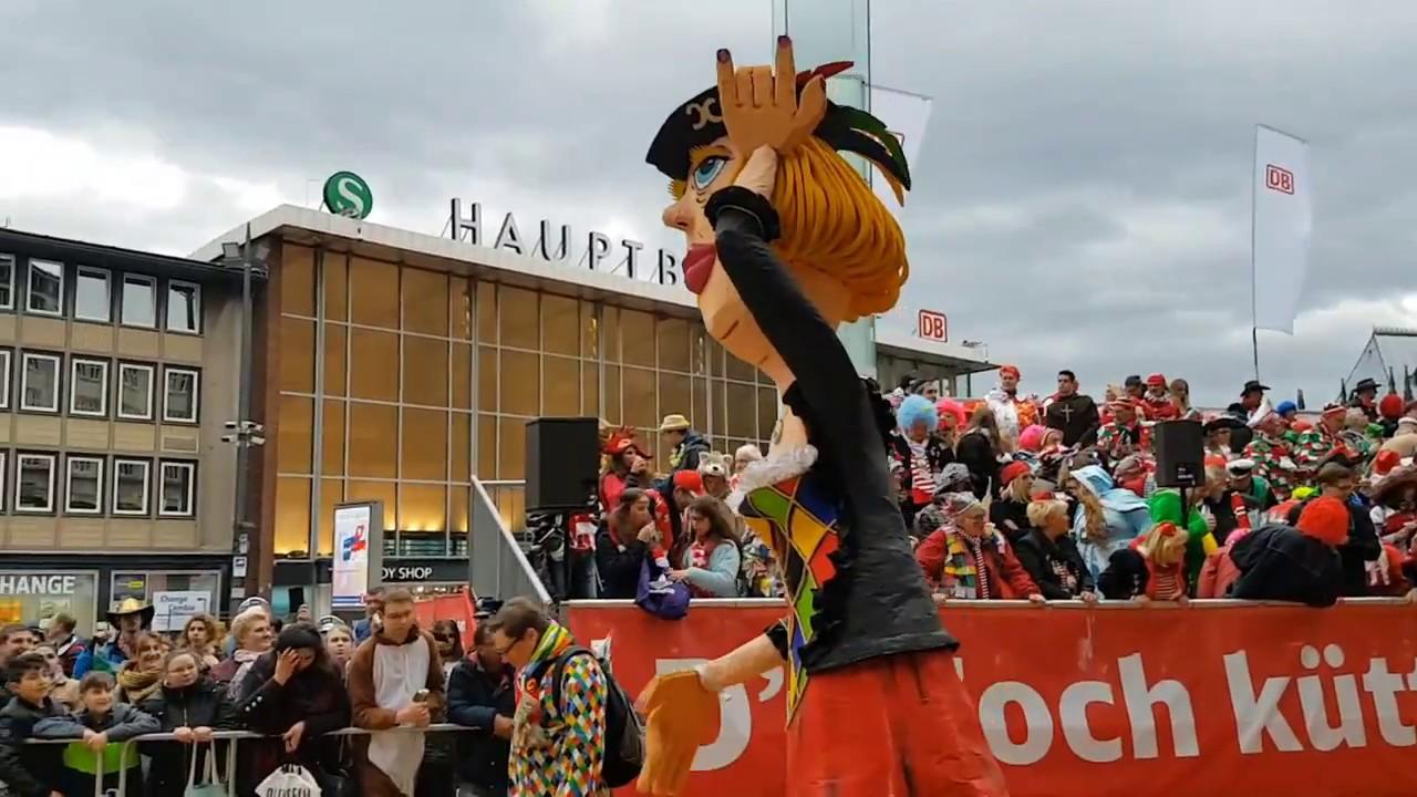 carnival karneval rosenmontagszug in cologne germany k ln deutschland youtube. Black Bedroom Furniture Sets. Home Design Ideas
