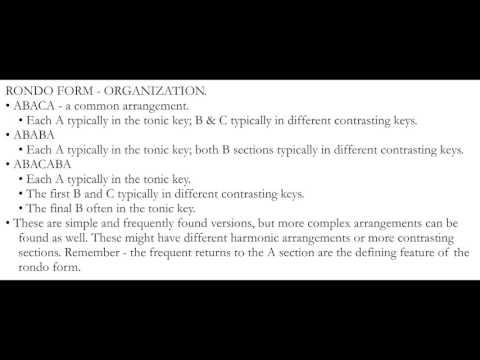 Music Theory: Larger Forms, Rondo & Sonata