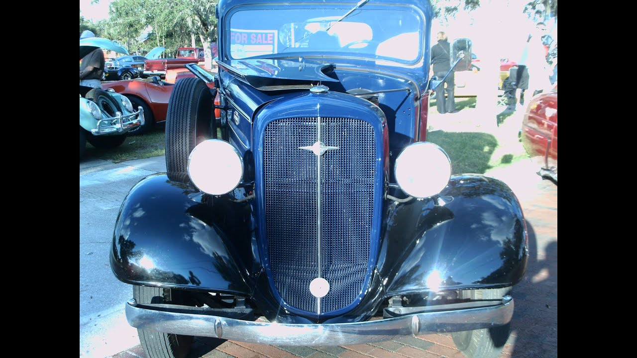 1936 Chevy Half Ton Truck BluBlk Longwood101213