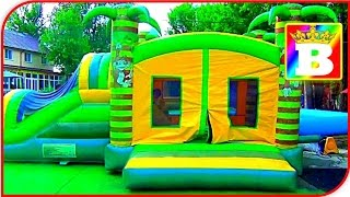 """NEW Outdoor FUN INFLATABLE SLIDES for kids """"JUNGLE"""" Great OUTSIDE PLAYGROUND at Bogdan`s Show"""