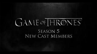 Juego de Tronos: Temporada 5 – Nuevos actores (subtitulado)
