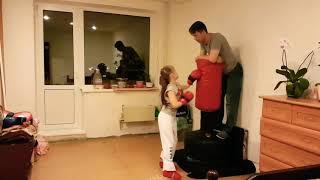 Тренировка. Папа и доча. Тхэквондо итф. Taekwondo itf