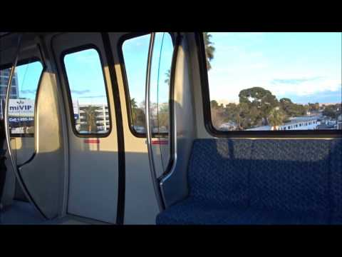 Daytime Take: Riding the Monorail from Westgate Station to MGM Grand Station Las Vegas, NV