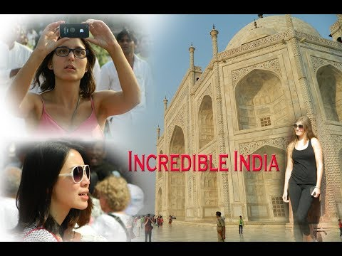 Foreign Traveler at Agra in India.  Travelling India 2017