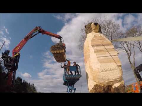 The Largest Woodcarving Bear in the World gets his Arms! Day 5 - 9